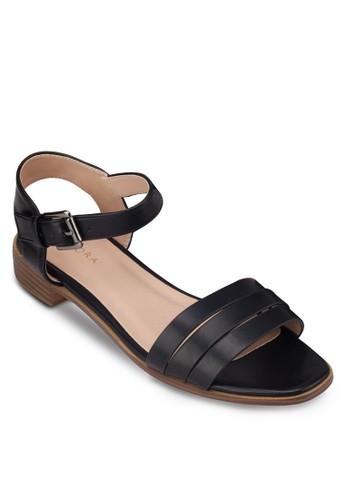 多帶繞踝低跟涼鞋,zalora鞋子評價 女鞋, 涼鞋