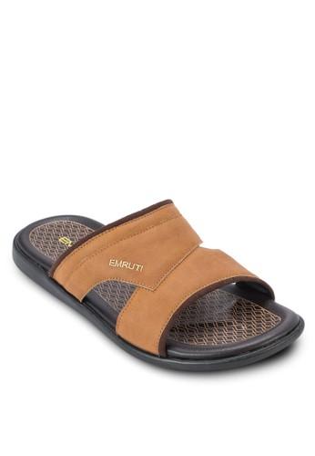鏤空寬帶休閒涼zalora退貨鞋, 鞋, 拖鞋
