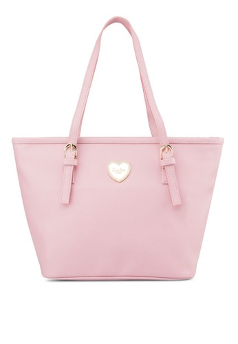 心型裝飾zalora是哪裡的牌子側背托特包, 包, 飾品配件