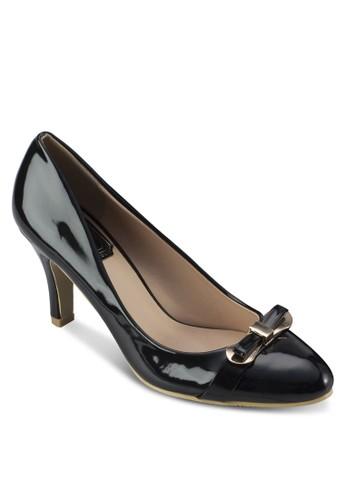 蝴蝶結漆皮高跟鞋, 女鞋, 厚底zalora 鞋評價高跟鞋