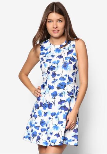 花卉腰飾傘狀洋裝, 服飾, 服zalora 男鞋 評價飾