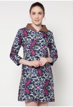 Contoh Dress Batik Kerja