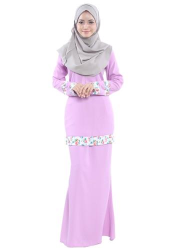 Inaya Baju Kurung from Tulips & Thyme in Pink