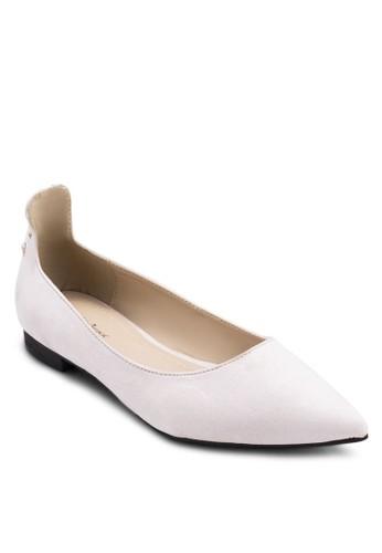 交叉繫帶包跟平底鞋,zalora 台灣 女鞋, 芭蕾平底鞋