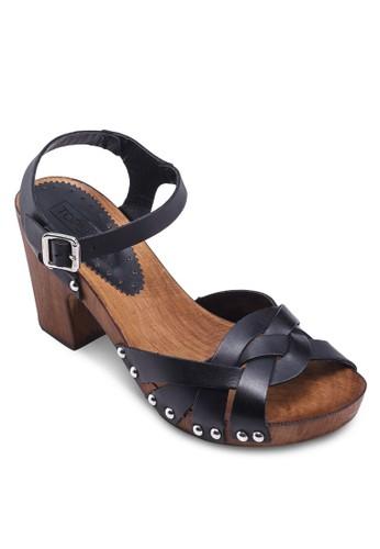 NINA 編織帶高跟涼鞋, 女鞋, 中topshop hk跟