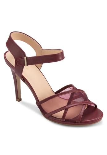 薄紗交叉zalora退貨帶高跟涼鞋, 女鞋, 鞋