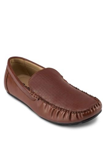 Moo 仿皮暗紋莫zalora 順豐卡辛鞋, 鞋, 鞋