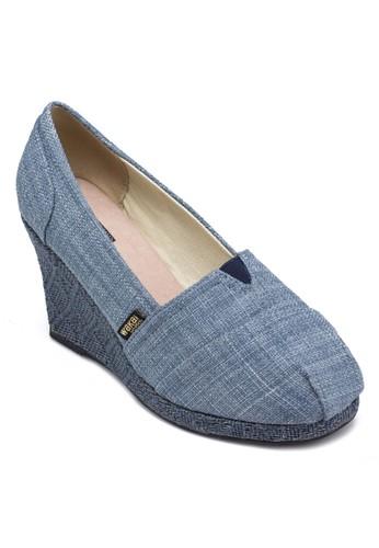 Shingzalora開箱eta 簡約編織楔形鞋, 女鞋, 中跟