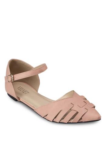 Amanda 尖頭繞踝平底鞋zalora 台灣, 女鞋, 鞋