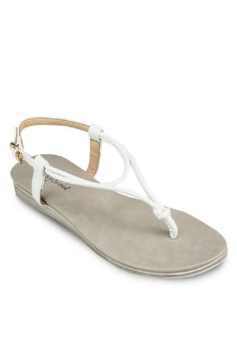 扭結踝帶涼鞋, zalora時尚購物網評價女鞋, 鞋