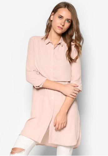 層疊mango watch長版長袖襯衫, 服飾, 服飾