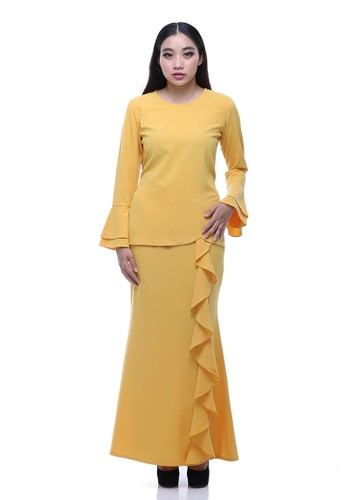 Suraiya Modern Kurung from Secretcode in Yellow