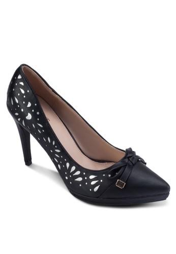 鏤空尖頭蝴蝶結高跟鞋, 女zalora taiwan 時尚購物網鞋, 厚底高跟鞋