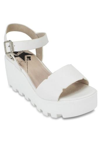 漆皮踝帶厚底涼鞋, zalora退貨女鞋, 鞋