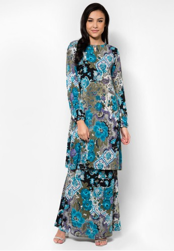 Mini Kurung A Line from Zuco Fashion in Blue