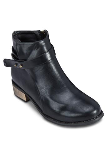 zalora是哪裡的牌子按扣飾帶踝靴, 女鞋, 靴子