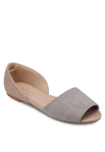 魚口側鏤空平底涼鞋, 女鞋, zalora 心得魚口鞋