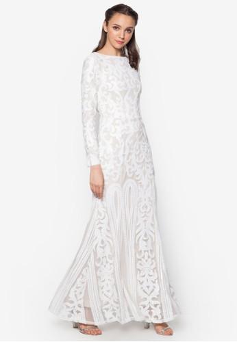 Placement Sequin Mermaid Dresszalora 評價, 服飾, 洋裝