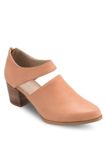 鏤空zalora鞋子評價仿皮木製粗跟鞋, 女鞋, 中跟