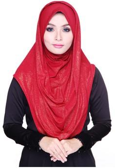 Hoodie Hijab Hayden (Brick Red)