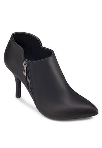 拉鍊高跟zalora退貨仿皮踝靴, 女鞋, 靴子