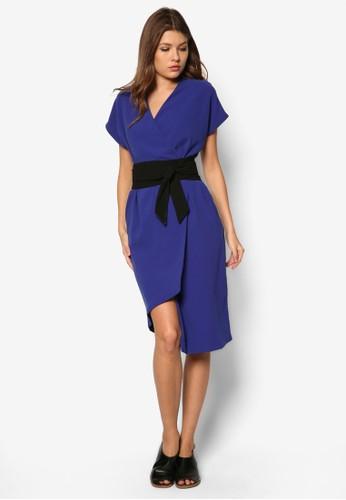 Sanford Obi 不對稱裹飾洋裝, 服zalora 包包評價飾, 服飾