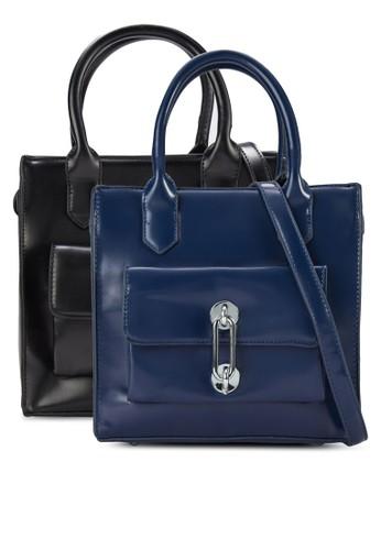 二入金飾仿皮方zalora 鞋評價形手提包, 包, 飾品配件