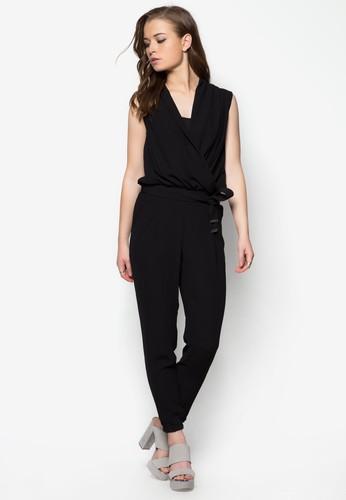 裹飾腰帶連身長褲, 服飾zalora鞋子評價, 服飾