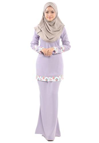 Inaya Baju Kurung from Tulips & Thyme in Purple