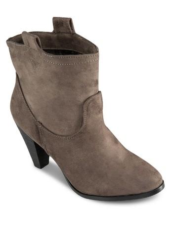 Brynnzalora 鞋評價e 寬口高跟踝靴, 女鞋, 靴子