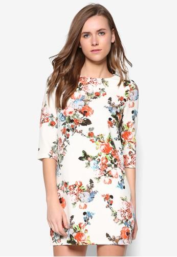 花卉七分袖洋裝, 服飾, zalora 評價洋裝