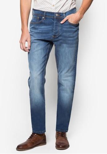 水洗直筒牛仔褲zalora 台灣, 服飾, 窄管牛仔褲