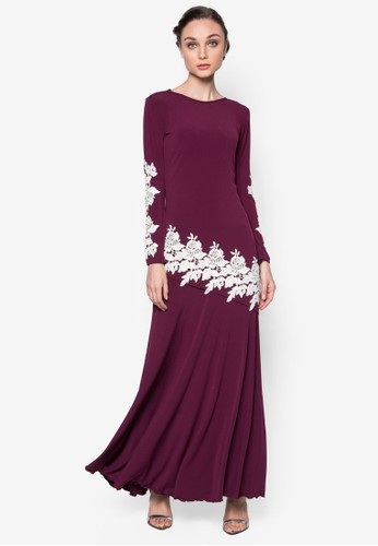 Remora Kurung from FLEUR in Purple