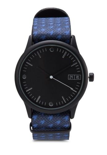 千鳥格紋雙錶帶手錶組,zalora 台灣門市 錶類, 飾品配件