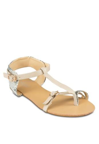 Cali T字帶zalora鞋拇指套涼鞋, 女鞋, 涼鞋