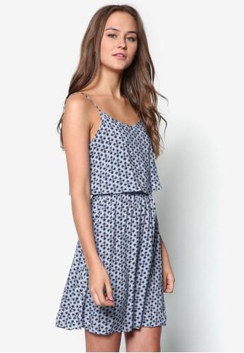 Roselezalora taiwan 時尚購物網鞋子a 層次細肩帶小洋裝, 服飾, 服飾