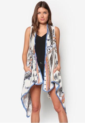 佩zalora 順豐斯利無袖開襟外套, 服飾, 服飾