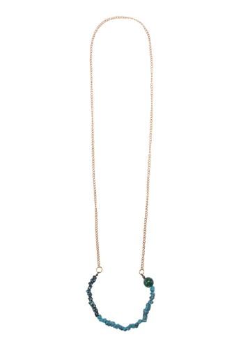 彩石長項鍊,zalora 台灣 飾品配件, 飾品配件