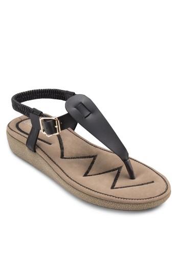 繞踝夾zalora 心得腳涼鞋, 女鞋, 涼鞋