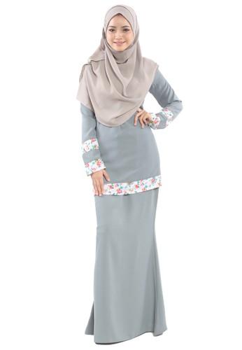 Inaya Baju Kurung from Tulips & Thyme in Grey