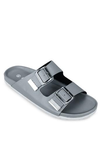 雙扣環帶基本款拖zalora 鞋評價鞋, 女鞋, 鞋