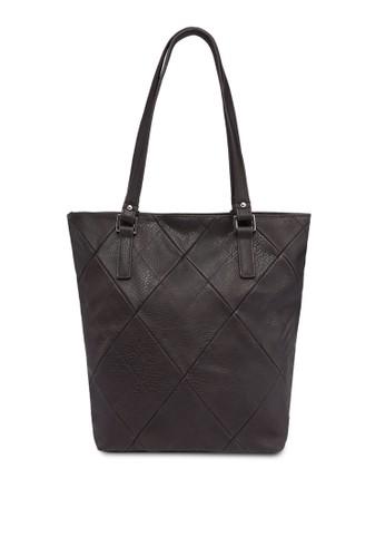 菱格紋PU 托特包, 包,zalora 包包評價 飾品配件