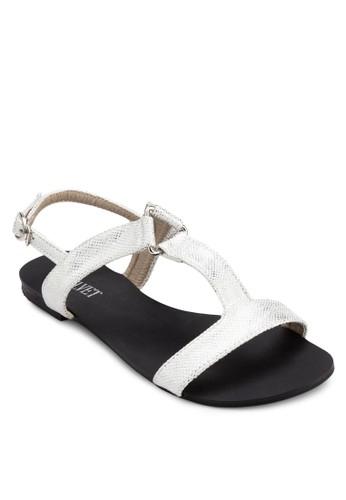 Shelia 工字帶繞踝涼鞋, zalora開箱女鞋, 涼鞋