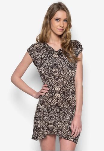 印zalora 鞋評價花短袖連身裙, 服飾, 服飾