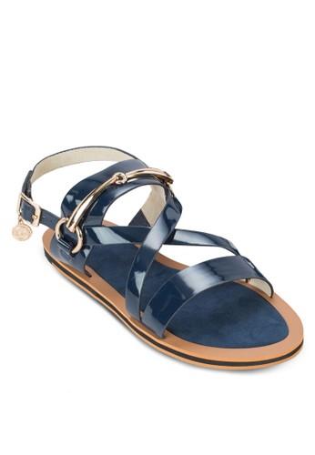 金飾繞踝平底涼鞋, zalora時尚購物網的koumi koumi女鞋, 涼鞋