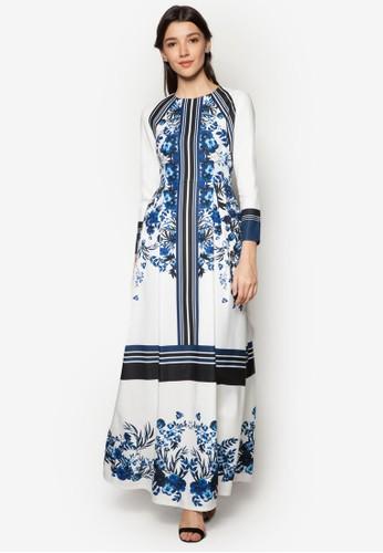 Floral Print zalora開箱Fit & Flare Dress, 服飾, 服飾