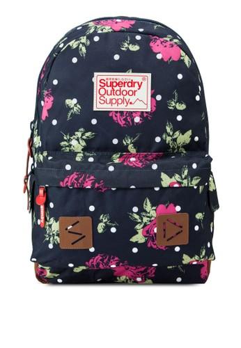 zalora 心得點點印花玫瑰花後背包, 包, 後背包