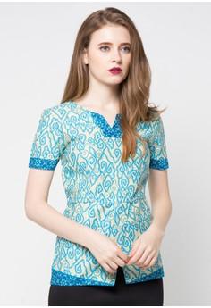 Contoh Baju Batik Kerja Lengan Pendek