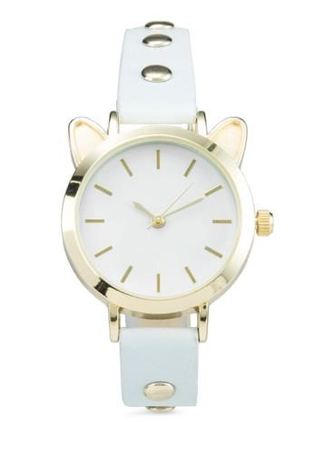 貓臉框鉚釘細帶錶zalora鞋子評價, 錶類, 休閒型