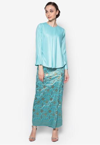 Hamidah Kurung from Seleksi Akma in Blue